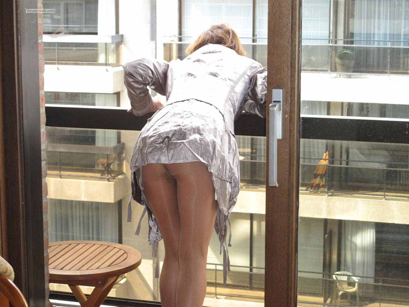stockings and bent over and upskirt and head