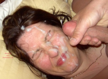 girl wanking with cum on her face